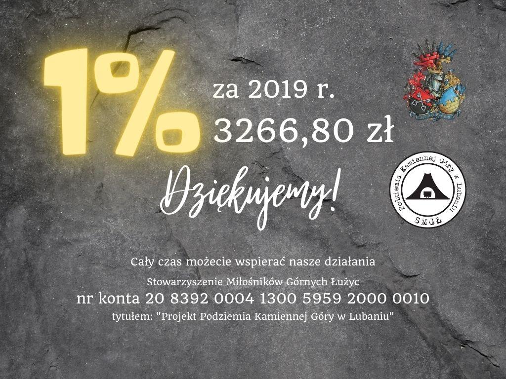 """1% na realizację projektu """"Podziemia Kamiennej Góry w Lubaniu"""""""