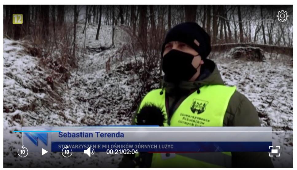 Podziemia Kamiennej Góry w Lubaniu w Wiadomościach TVP1