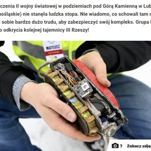 Artykuł w FAKCIE nt. lubańskich podziemi pod Kamienną Górą