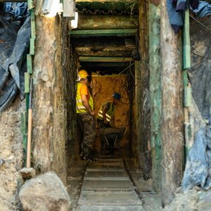 17. metr - podziemia pod Kamienną Górą w Lubaniu