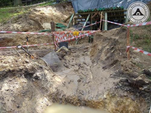 Budowa sztolni udostęniającej do podziemi pod Kamienną Górą w Lubaniu