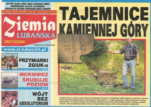 """Okładka dwutygodnika """"Ziemia Lubańska"""" 20.07-10.08.2011"""