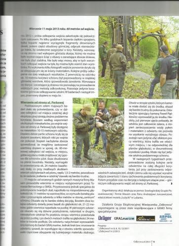 """Artykuł w """"Odkrywcy"""" - Wiercenia od strony ul. Parkowej - 11.05.2013 r."""
