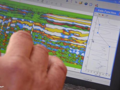 Badania georadarem - listopad 2011 r.