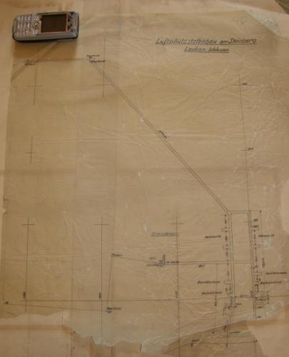Plan podziemi wykonany na kalce technicznej